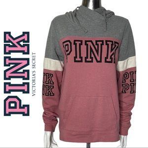 Pink Victoria's Secret Logo Hoodie Sweatshirt